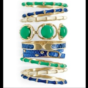 Stella & Dot Leather Studded Wrap Bracelet